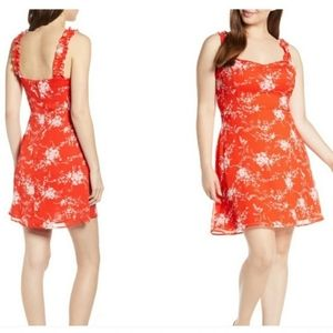 ALL IN FAVOR NWOT Red Stella Floral Plus Size XXL